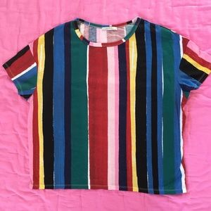 Zara Striped T Shirt